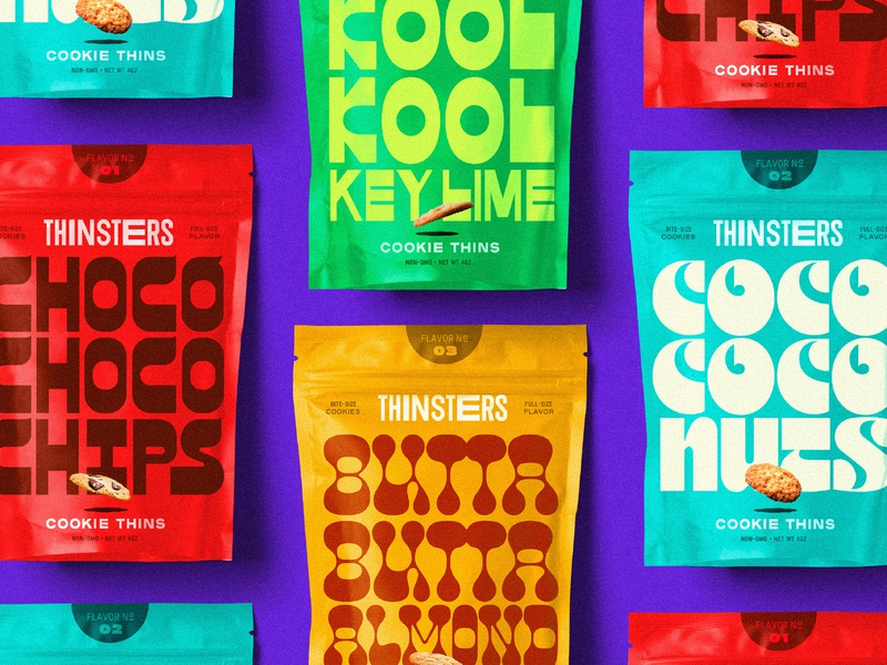 Thinsters packaging branding