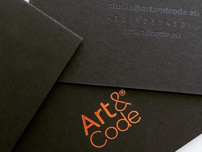 Art and Code exclusive with compliments cards cards luxury exclusive studio creative artandcode