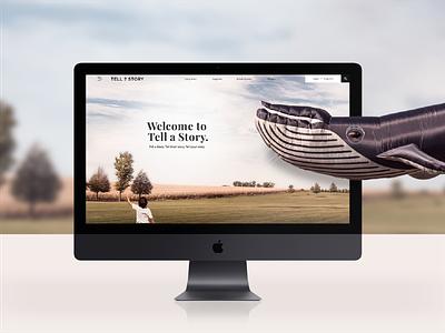 Tell a Story Case Study development illustrations logo design case study web platform creative direction ux ui website