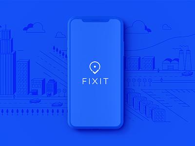 Fixit Case Study app design icons logo design visual identity ui  ux case study startup creative direction