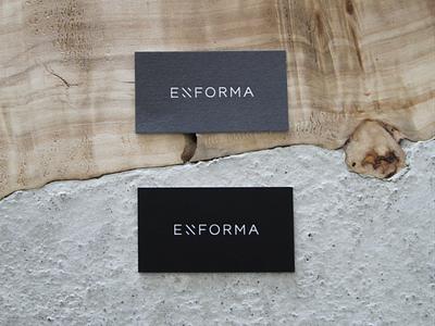Enforma visual identity architecture studio business cards stationery design print branding visual identity logo design creative direction