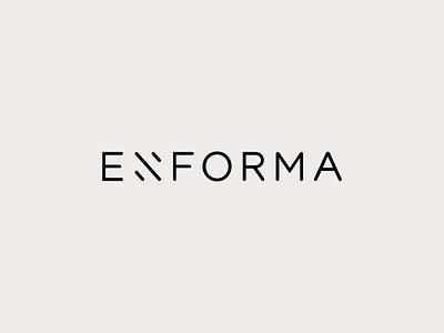 Enforma logotype minimalistic architecture studio branding visual identity logo design creative direction