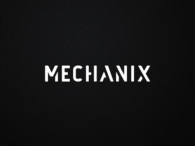 Mechanix logotype fitness facility branding visual identity logo design creative direction