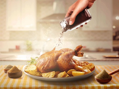 Food Retouching photography photo manipulation graphic design food spices retouch