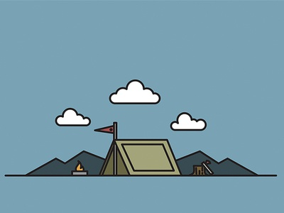 Another Quick Vector Exercise strokes adobe illustrator vector outdoors camping