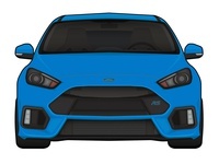2016 Ford Focus Rs Illustration