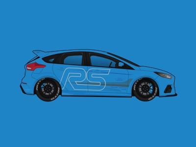Ford Focus Vector Illustration adobe illustration cardesign cars design vector
