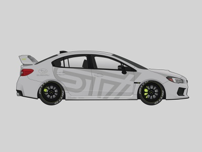 2019 WRX STI Illustration graphic subaru illustration cars cardesign design vector