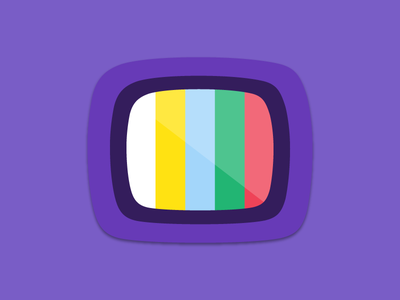 TV Guide App Icons palette colors design illustration icon android material ios app