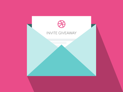 2 Dribbble Invites Giveaway flat icons shadow vector icon prospect player dribbble giveaway invitation invite