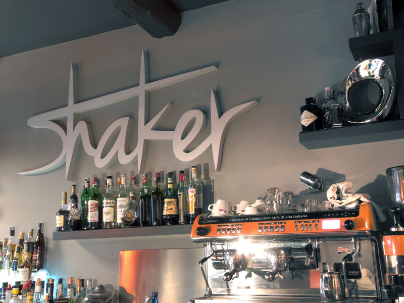 Shaker Coffe Bar - Interior Sign interior branding wall forniture bar design logo sign