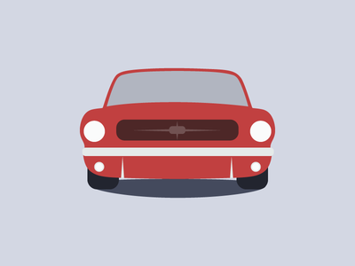 1965 Ford Mustang ford machine draw icon flat illustration car mustang