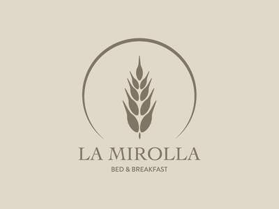La Mirolla Bed & Breakfast colors hotel bed and breakfast italy illustration logo