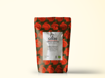 New packaging design for the Azienda Agricola il Gobbo logo vector color mockup bag packaging
