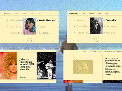 Goodmorning Festival typography website web ux ui design animation interaction interface