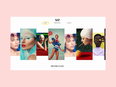 Musset Photography typography website web design animation ux ui interaction interface