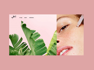ABC Beauty typography interface interaction website web ux ui design animation