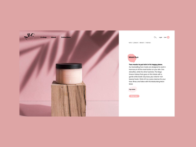 ABC Beauty interface interaction website web ux ui design animation