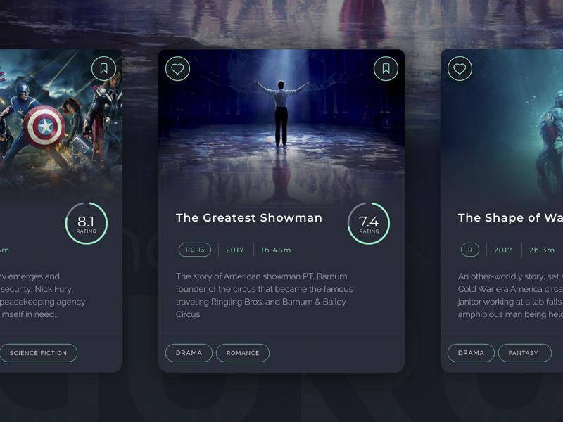 Movie Card Design the avengers web application info card movie