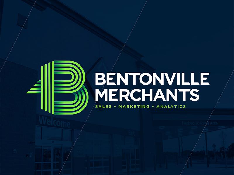 Bentonville Merchants Logo icon data retail marketing branding logo