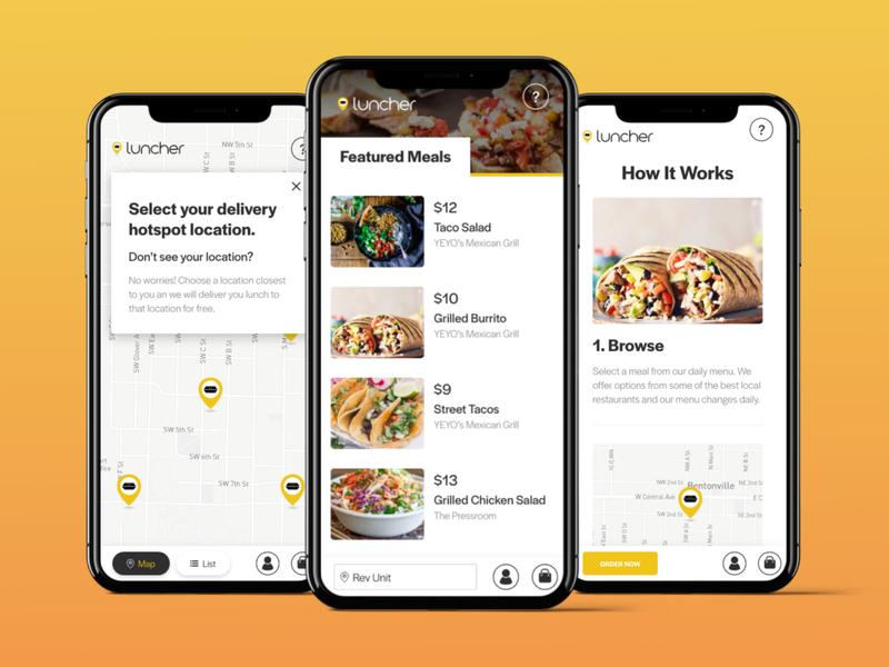 Lunch Delivery App ux design ui design web design native app mobile app restaurant app delivery food restaurant
