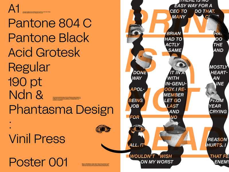 Print Is Not Dead print posterdesign poster art direction