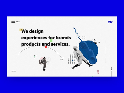 Look(Agency) Hello Page research information architecture responsive design illustrations icon lead usability colors user experience design ui ux user interface design
