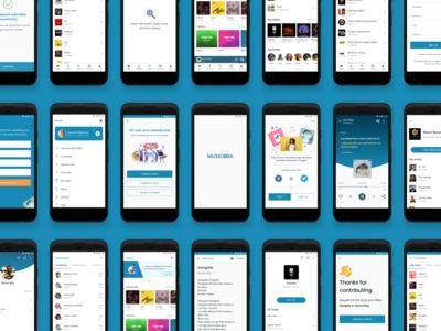 Music and Lyrics Mobile App Design - Musicoba