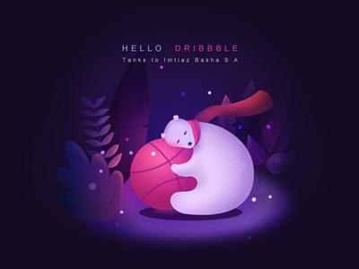 Hello Dribbble! illustration firstshot