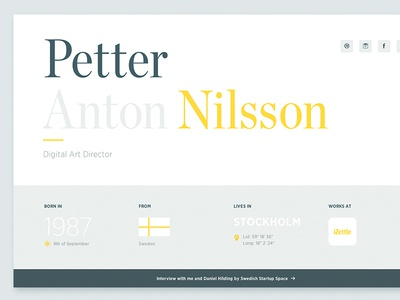 Personal site cloud.typography chronicle gotham typography flat personal homepage simple responsive yellow grey portfolio