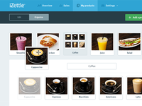 iZettle Product Library izettle products thumbnails drag drop manager library folders payments commerce store