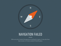404 page for iZettle 404 error compass izettle navigation not found animation flat gray