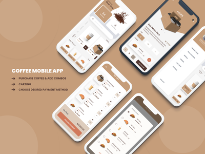 COFFEE MOBILE APP coffee figma uxdesign uidesign mobile app mobile ui design
