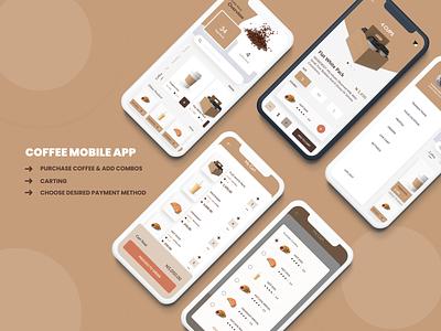 COFFEE MOBILE APP coffee figma uxdesign uidesign mobile app mobile ui design