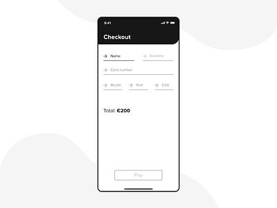 Credit Card Checkout form concept clean adobe xd app design ui ux credit card checkout credit card mobile ui mobile ui design dailyui