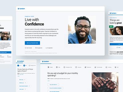 Sanlam's Financial Check Tool mobile design fintech app ux ui