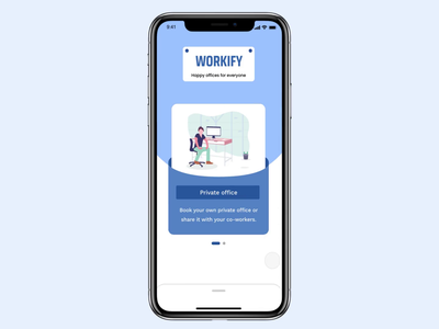 Onboarding / Sign Up screens for Co-working app interaction app design minimalism figma principleapp minimal minimalist ui design interaction design onboarding screens