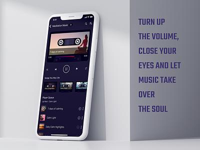 Design Concept for Music App app design retro music player music app