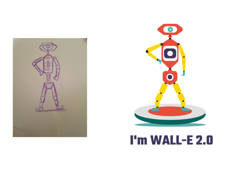 WALL- E vector character design characterdesign vectorart adobe xd adobexd sketching illustration robot weekly challenge weekly warm-up