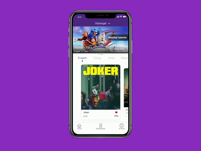 Its Show Time - Movie Booking App booking app booking movie adobe xd adobexd ios minimal time autoanimate video ui touch timestamp xd micro motion minimalism interaction design app app animation app