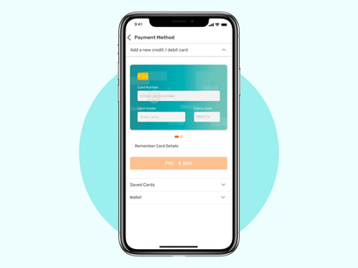 Add a New Credit / Debit Card animated gif interactiondesign interaction minimalist debit card credit card form app user inteface user experience ui shopping add card payment checkout app design