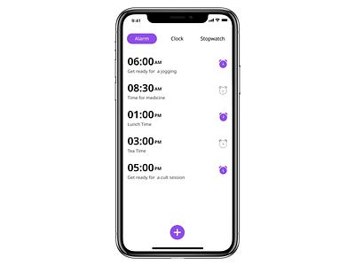 Set Alarm userinterface ux app design interaction design alarm clock alarm app alarm