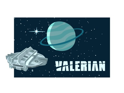 Spaceship Project, Valerian green grey star post affiche drawing space vector illustration adobe illustrator poster art planete poster