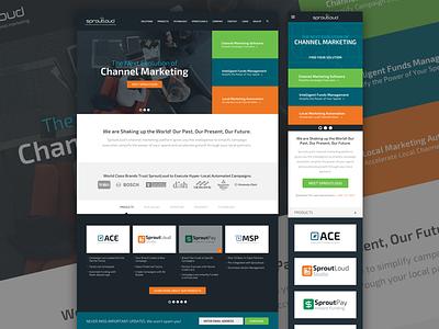 Channel marketing software company ui web site