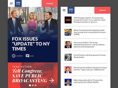 Editorial Design mobile ui web site
