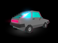 Lowpoly Delorean