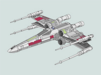 X-Wing Rebel Fighter Illustration