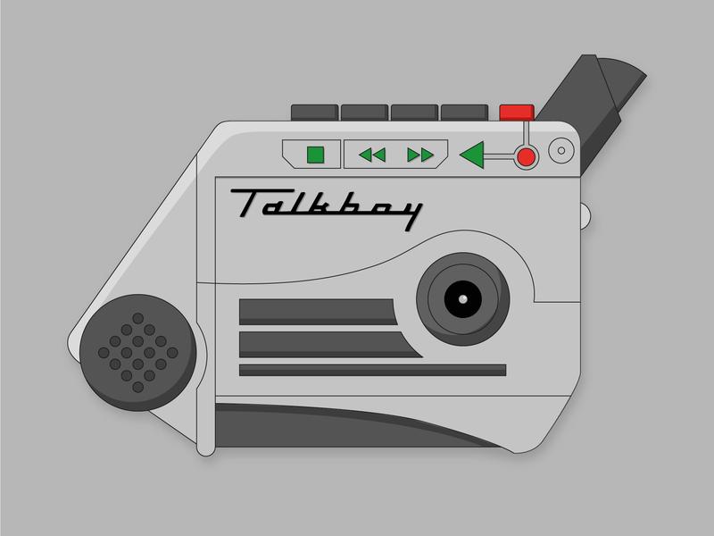 Talkboy Illustration film movie home alone christmas vector graphic design design illustrator illustation