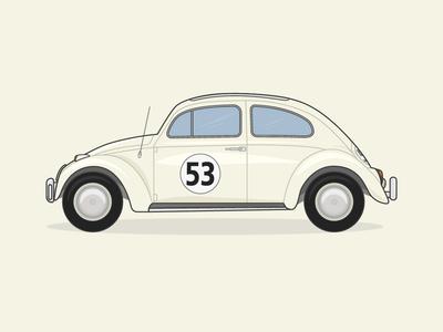 Herbie The Love Bug Illustration