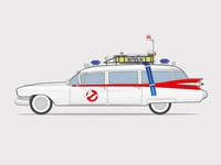 Ghostbusters 'Ecto 1' Illustration